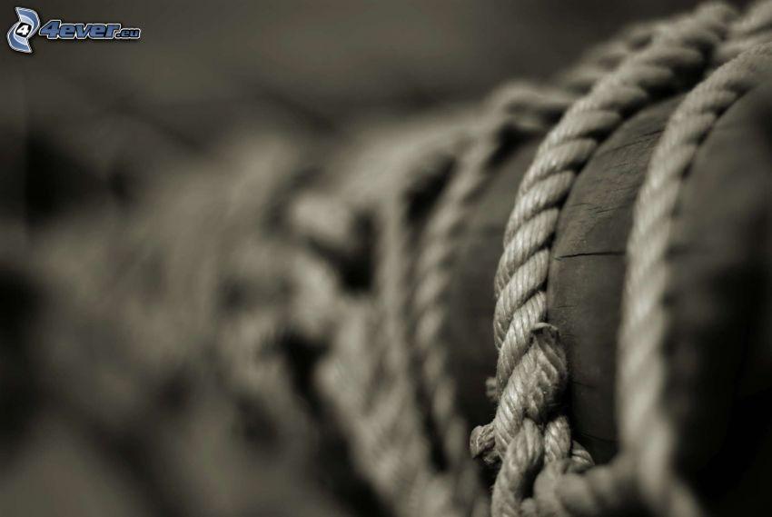 rope, wood