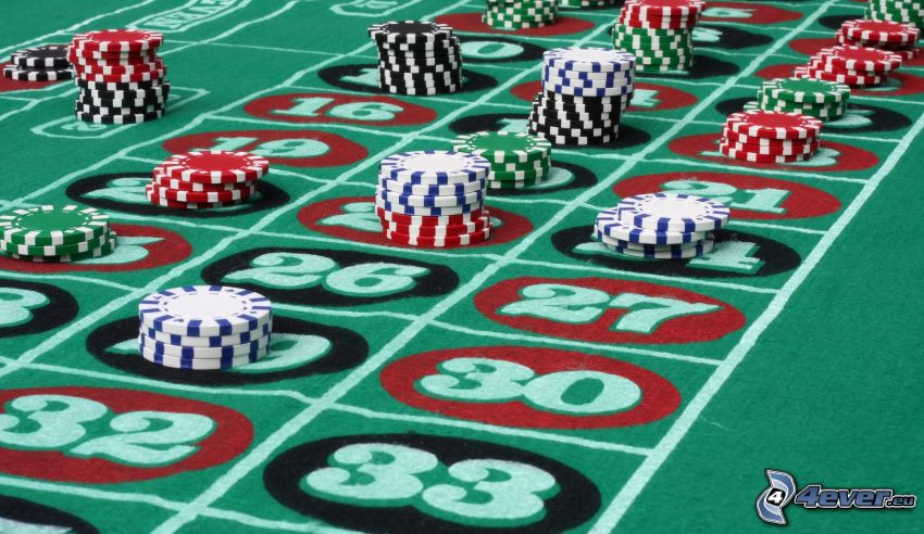 Roulette, jetons, numbers