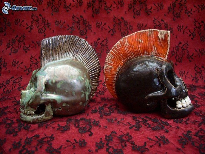 skulls, punker