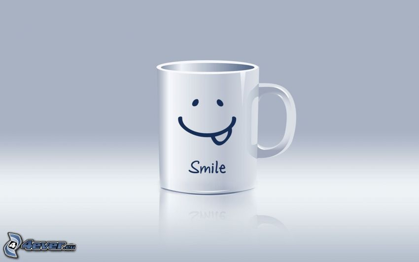 smile, cup