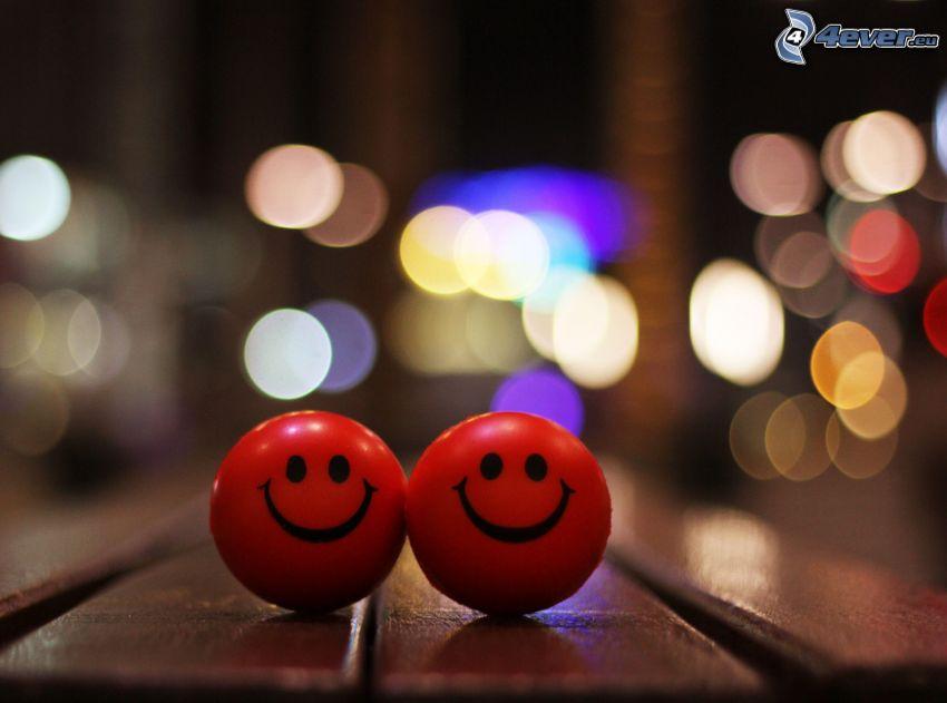 smiles, balls