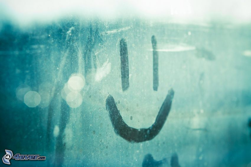 smiley, glass