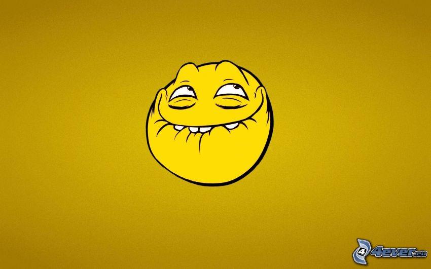 smiley, yellow background