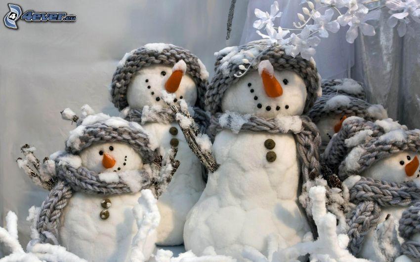 snowmen, family