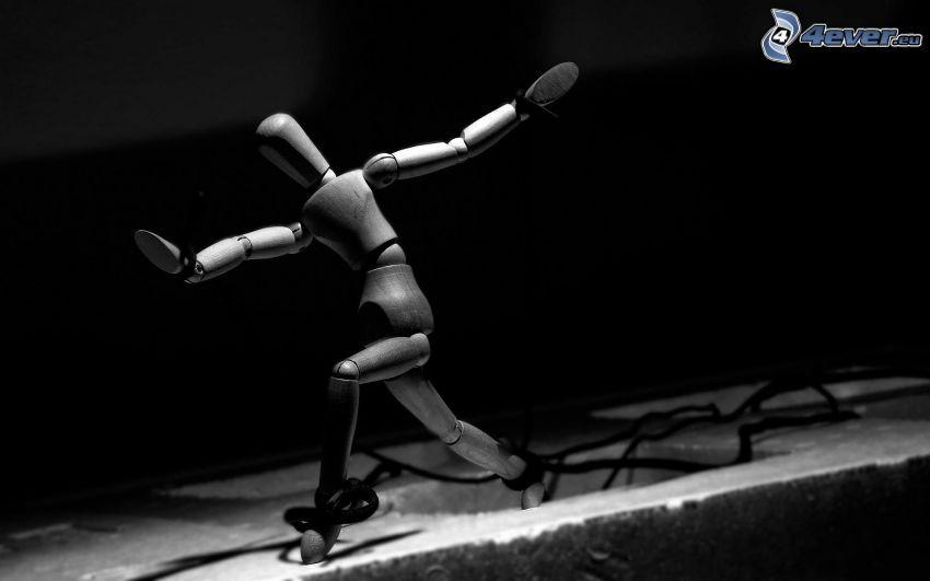 stickman, black and white