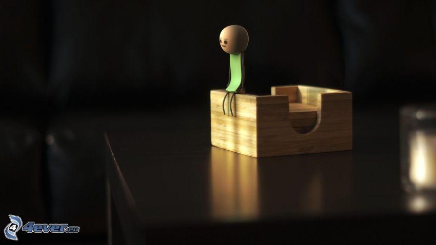 stickman, box