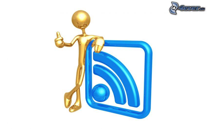 stickman, emblem, RSS