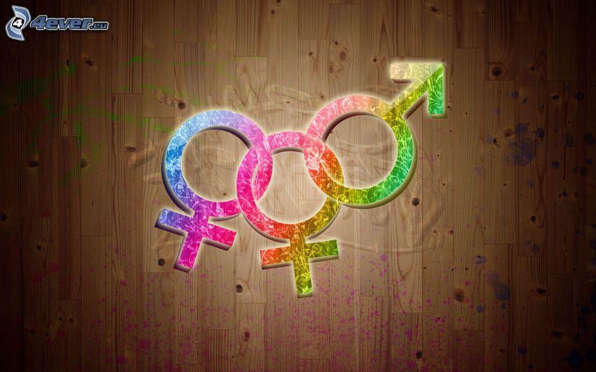 symbol, man and woman