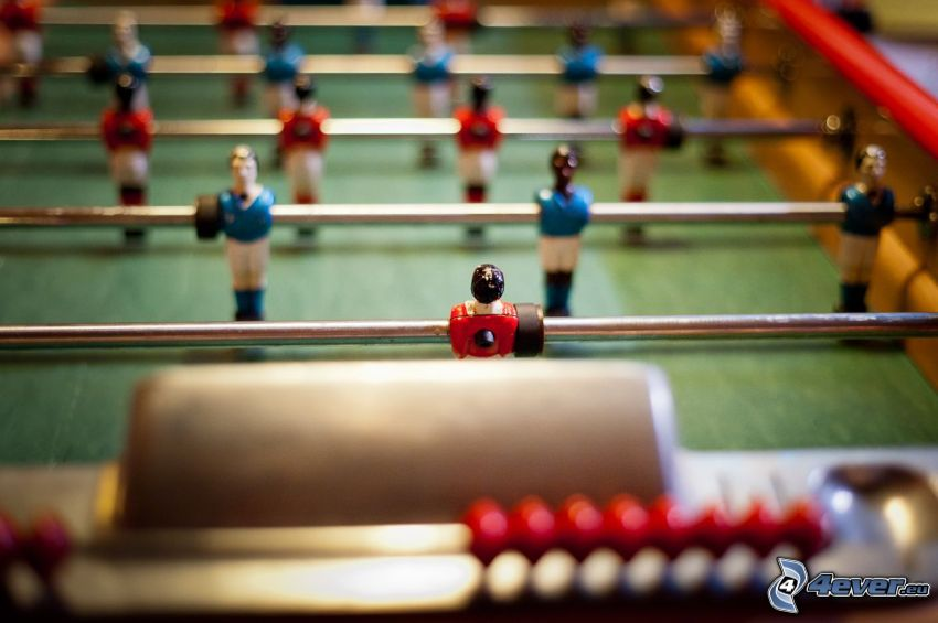 table football, bar