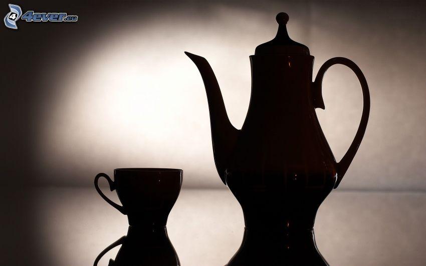 teapot, cup