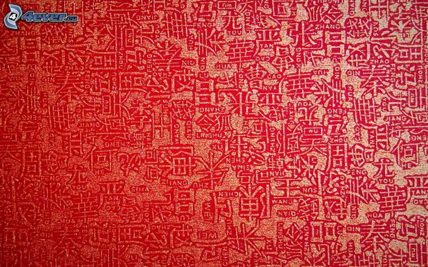 wallpaper, chinese marks, red background