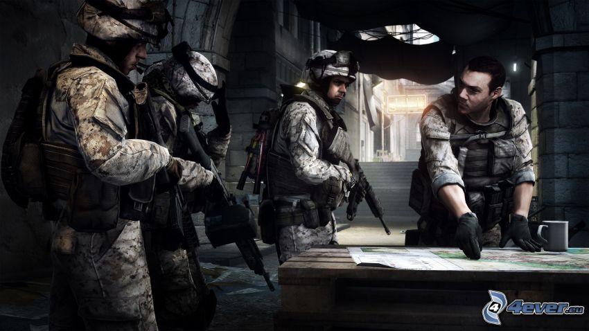 Battlefield 3, soldiers, map