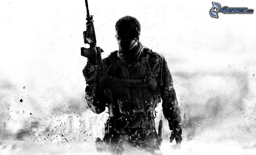 Call of Duty, man with a gun