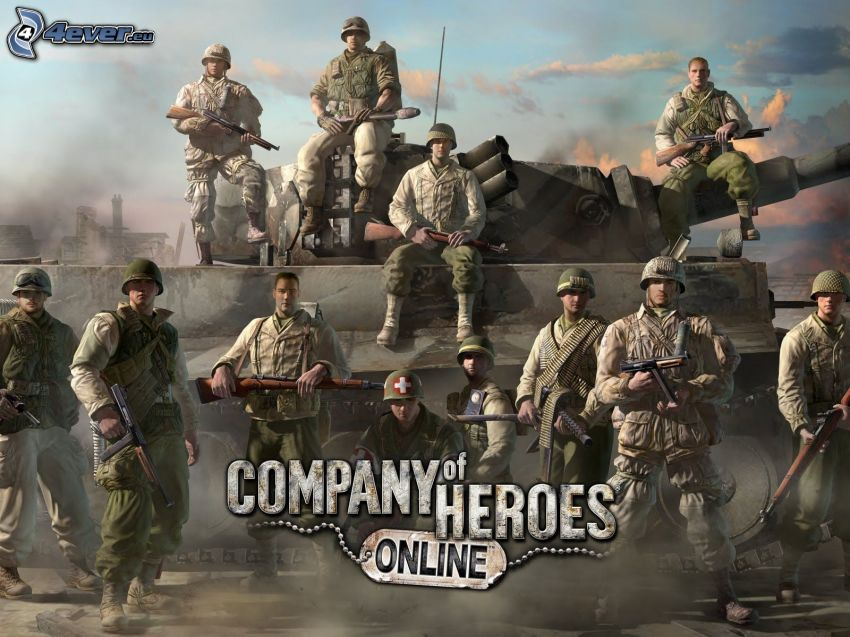 Company of Heroes, soldiers, tank