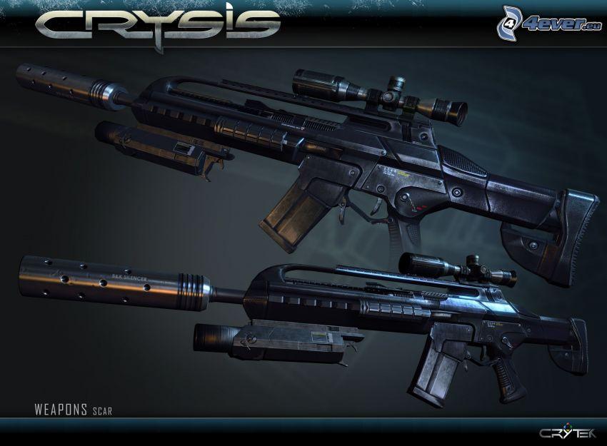 Crysis, submachine guns