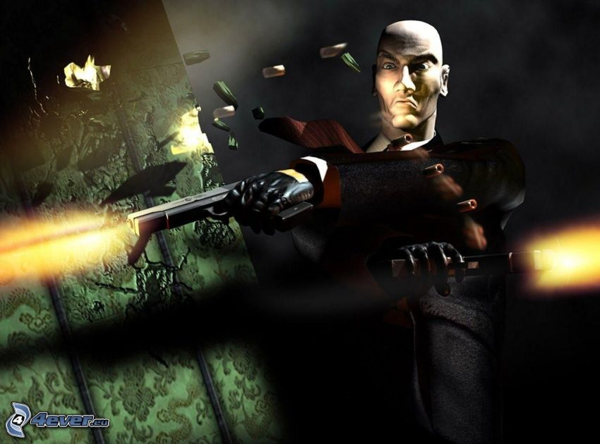 Hitman: Absolution, man with a gun