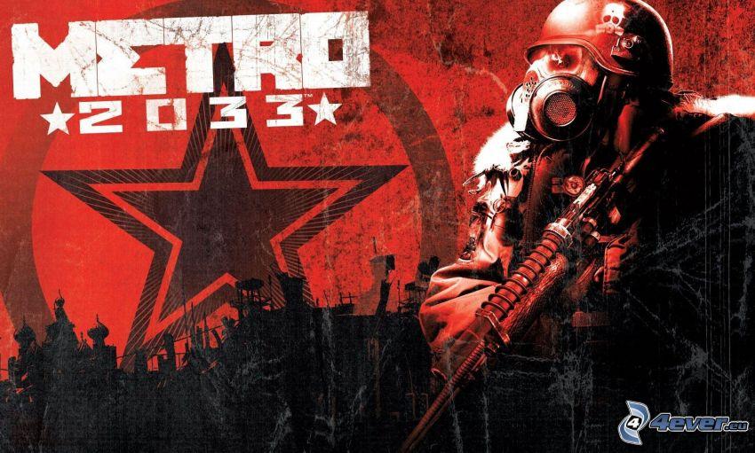 Metro 2033, soldier, gas mask
