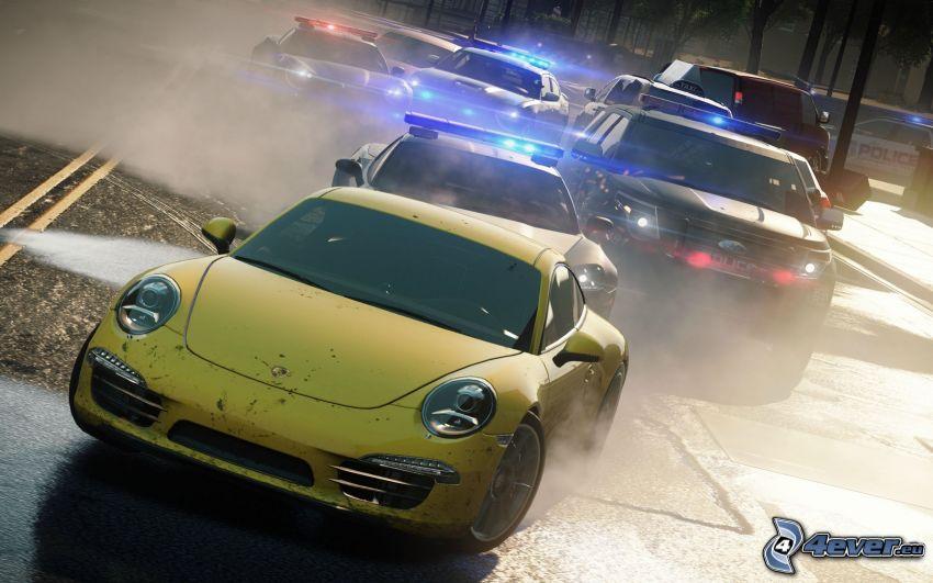 Need For Speed, Volkswagen Beetle, police car
