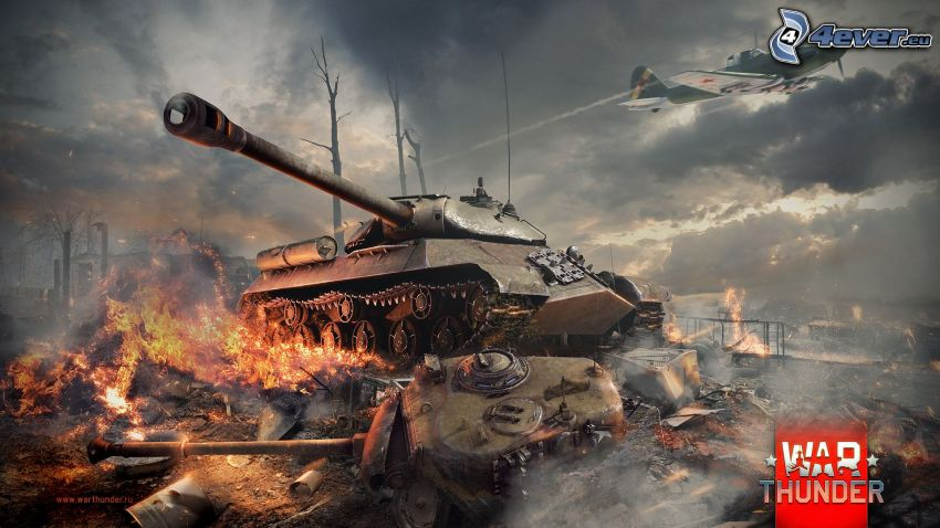 War Thunder, tanks, fight