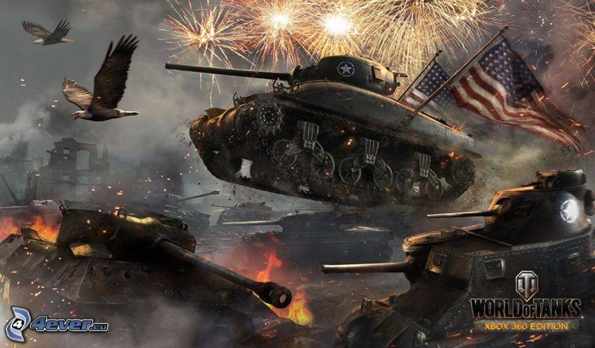 World of Tanks, american flag