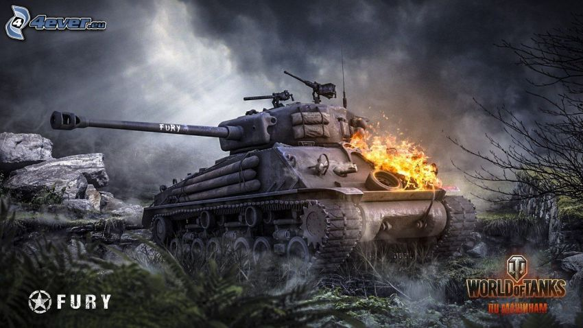 World of Tanks, tank, fire