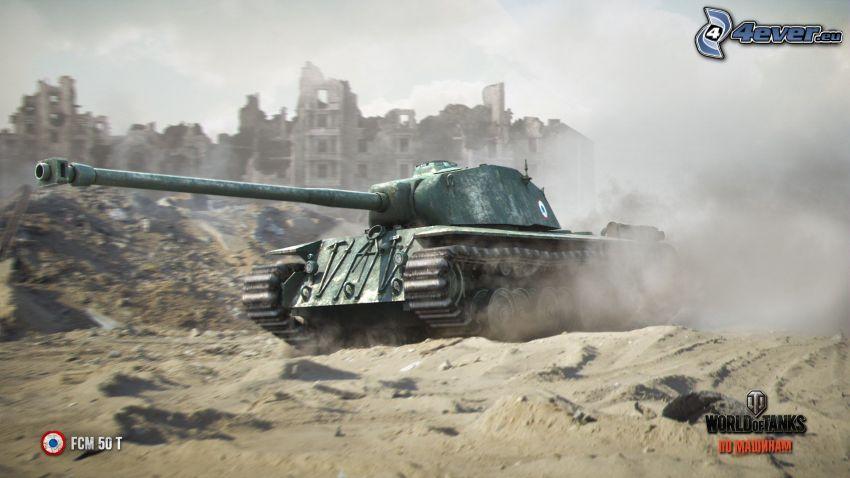 World of Tanks, tank, ruined city