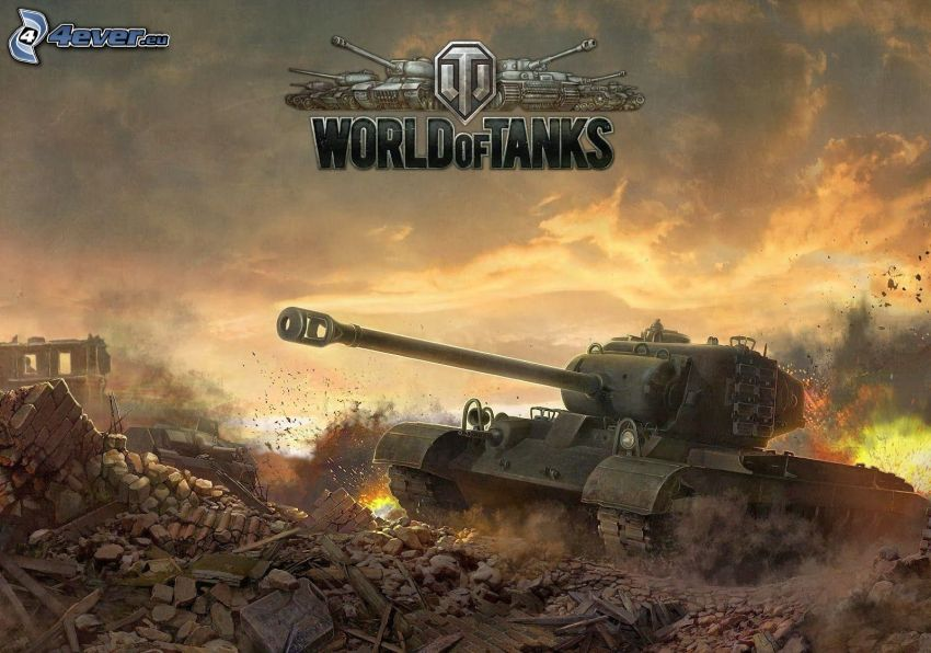 World of Tanks, tank, ruins