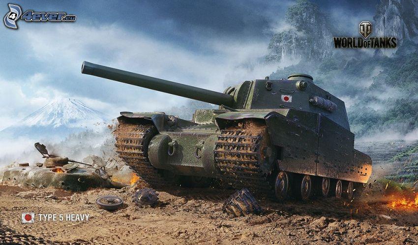 World of Tanks, tank, snowy hill
