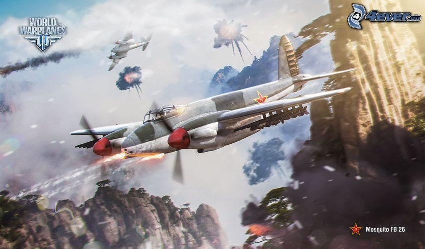 World of warplanes, airplanes, fight
