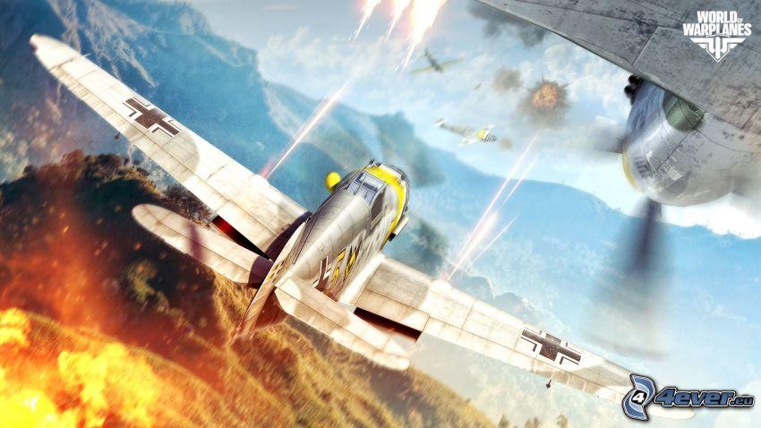 World of warplanes, airplanes, shooting