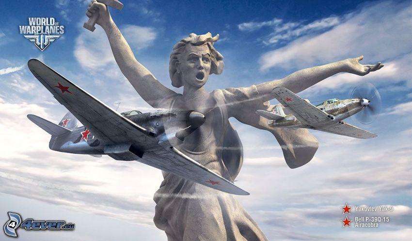 World of warplanes, Bell P-39, statue