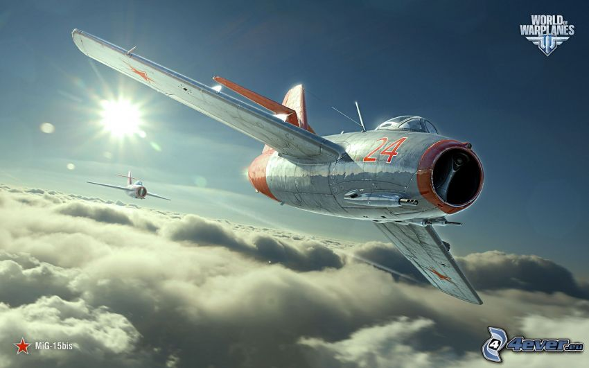 World of warplanes, MiG-15, over the clouds