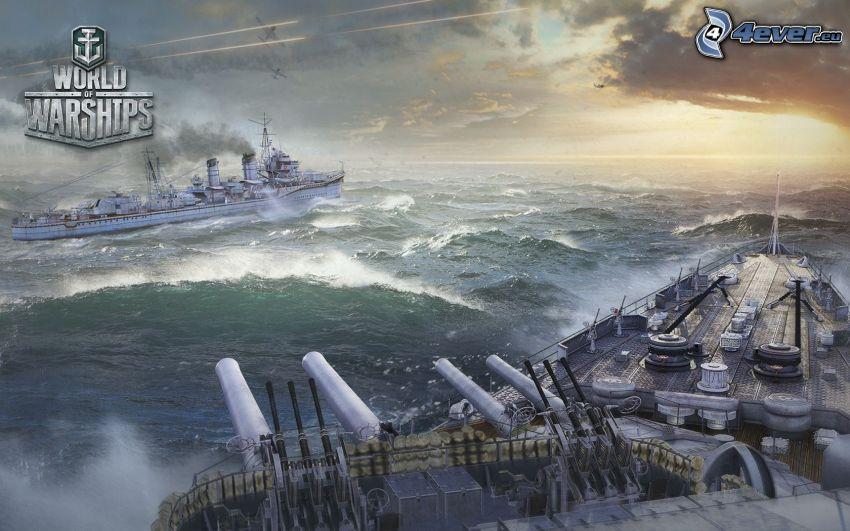 World of Warships, ships