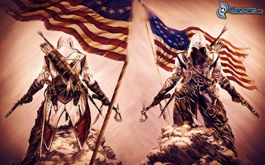 Assassin's Creed 3, american flag