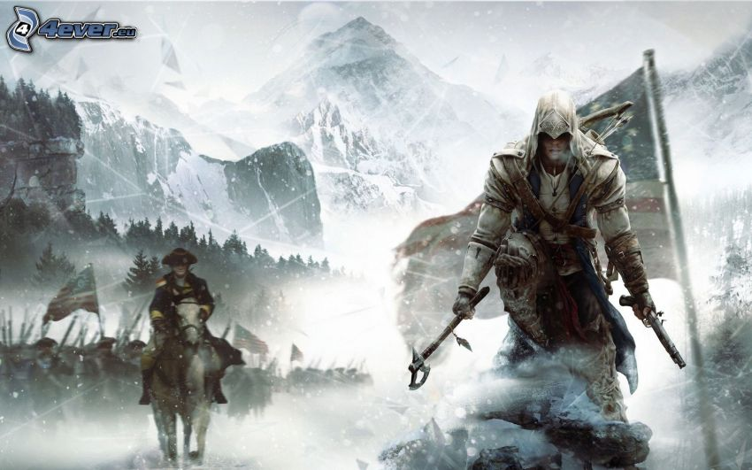 Assassin's Creed 3, snowy landscape