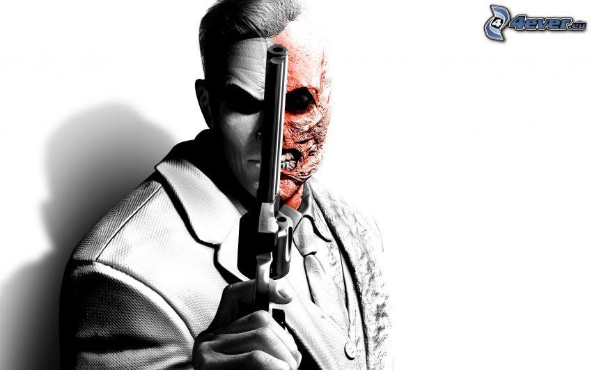 Batman: Arkham City, man with a gun