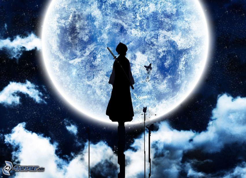 Bleach, woman silhouette