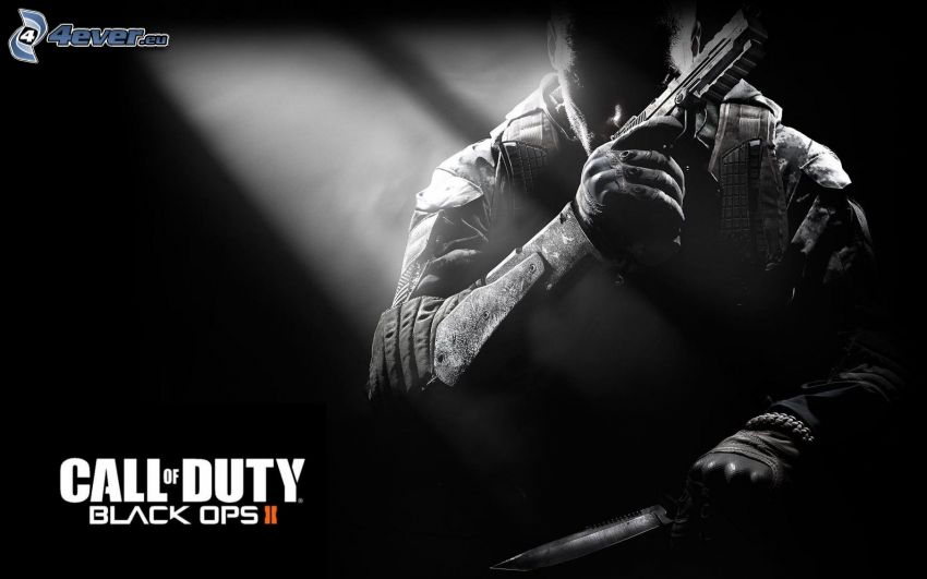 Call of Duty: Black Ops, man with a gun