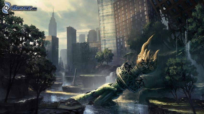 Crysis 2, post apocalyptic city
