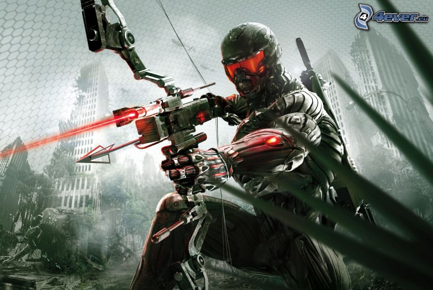 Crysis 3, sci-fi soldier