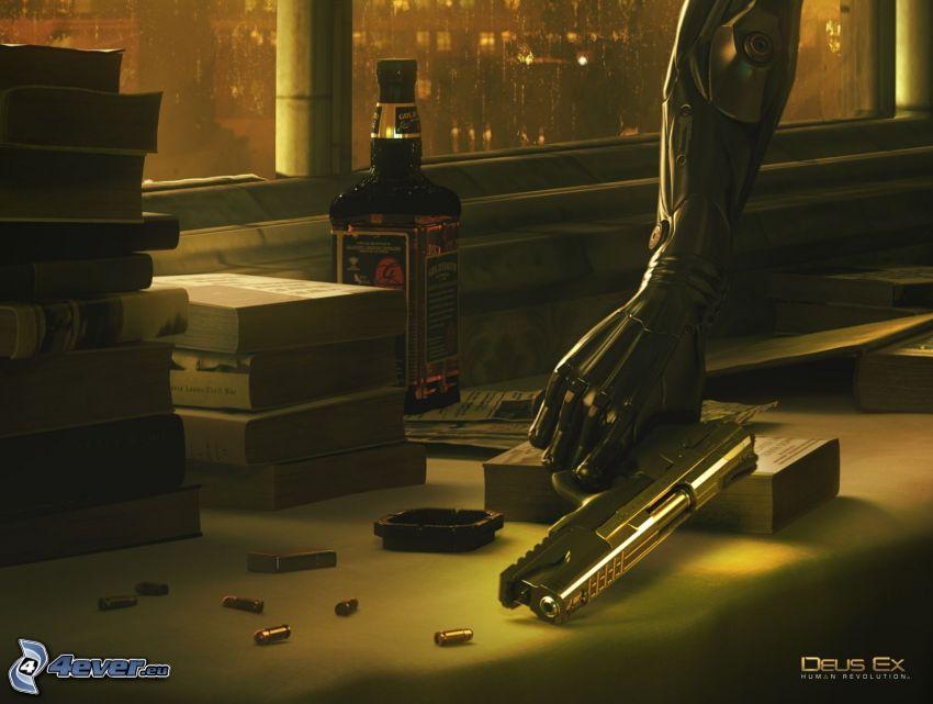 Deus Ex: Human Revolution, whisky