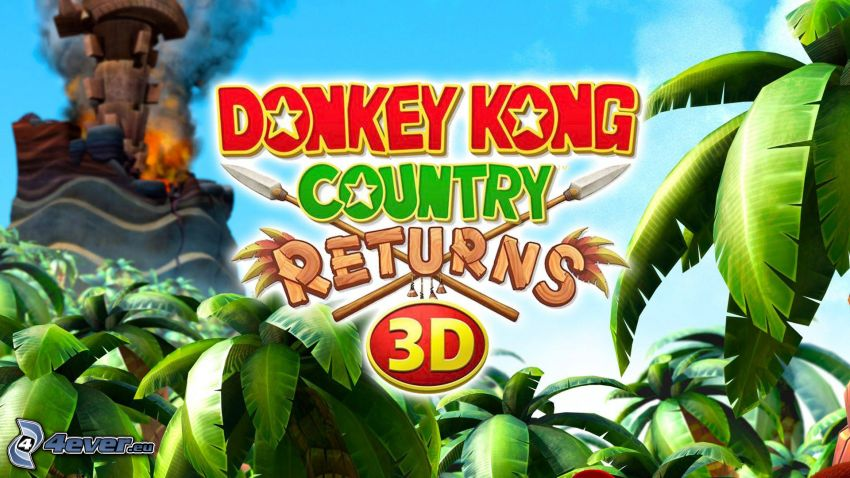 Donkey Kong Country Returns, palm trees