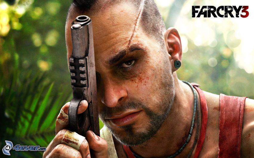 Far Cry 3, man with a gun