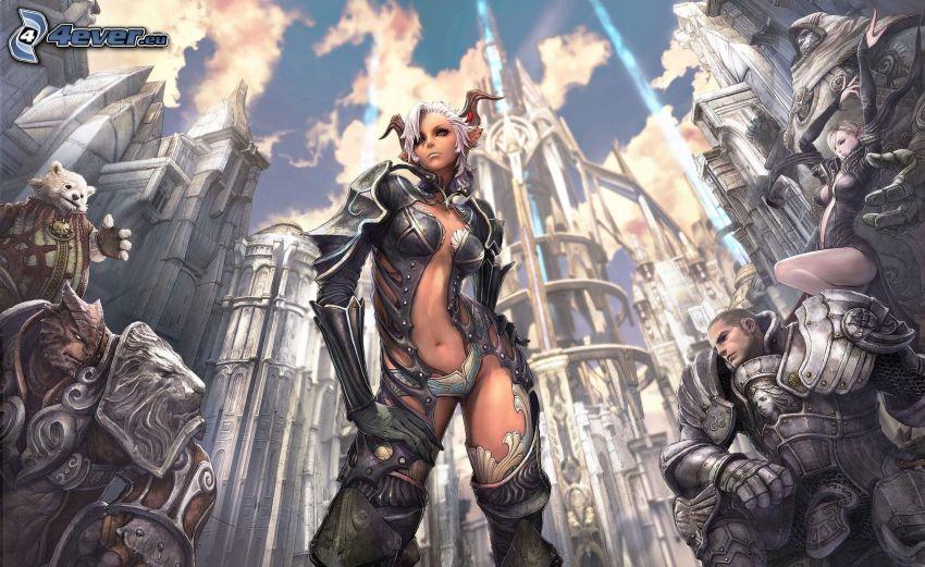 Final Fantasy, fantasy woman
