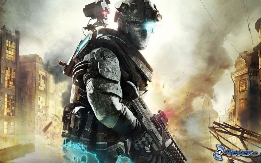 Ghost Recon: Future Soldier, soldier with a gun
