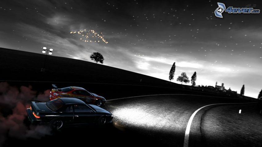Gran Turismo 6, night, drifting