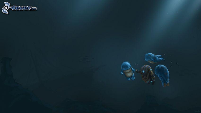 Guild Wars 2, swimming underwater