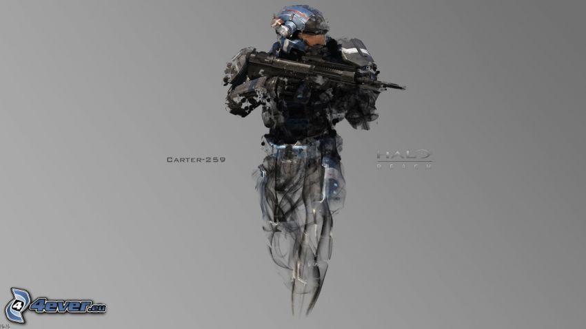 Halo: Reach, sci-fi soldier