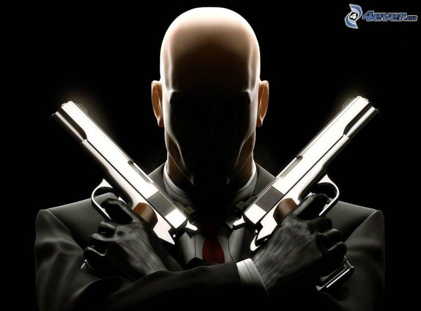 Hitman, man with a gun