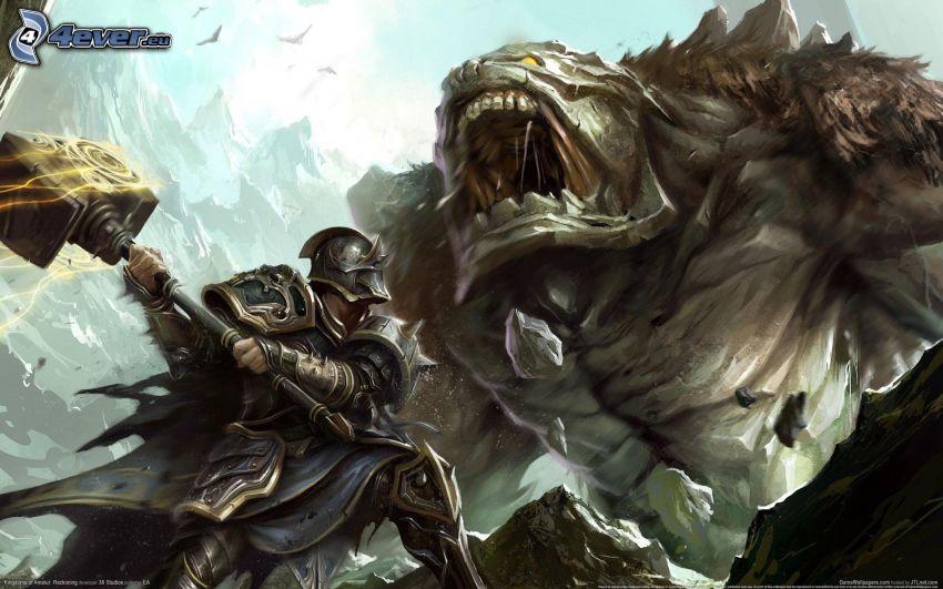 Kingdoms of Amalur: Reckoning, knight, monster
